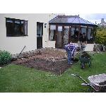Exterior decoration and patio renovation - DURING